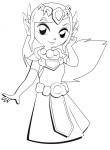 Coloriage princesse Zelda