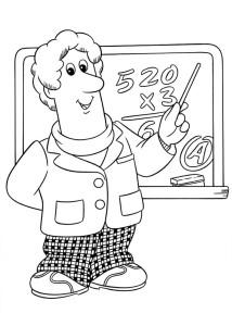 Coloriage professeur de math