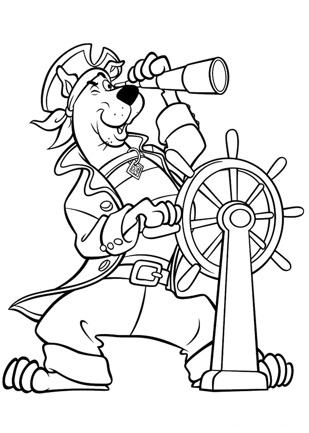 Coloriage Scooby-Doo pirate