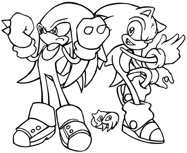 Coloriage Sonic Knuckles