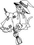 Coloriage sorciere chat