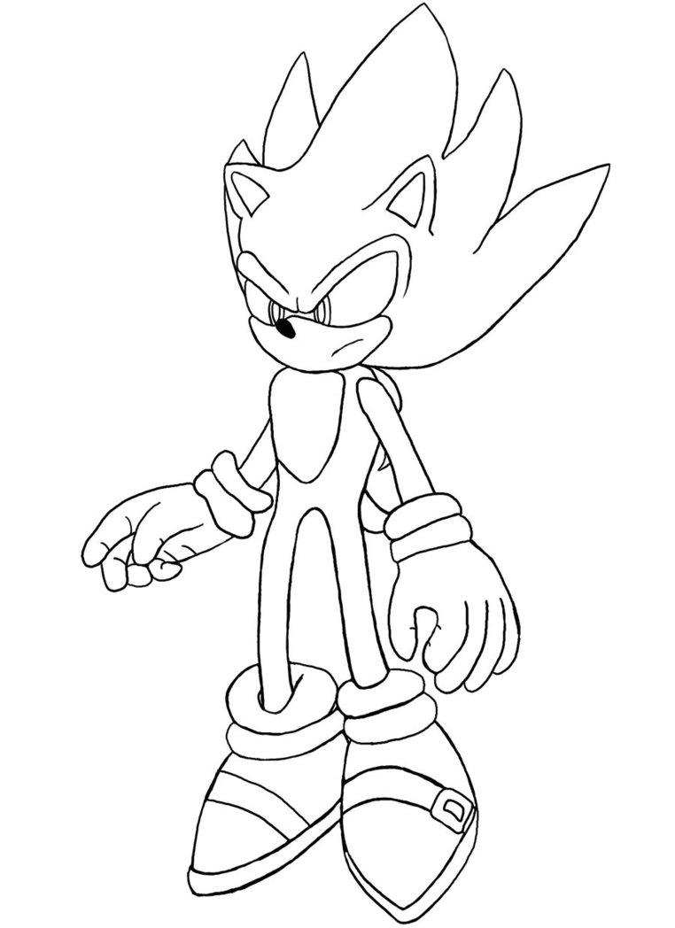 Coloriage Super Sonic à imprimer