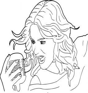 Coloriage Violetta chante