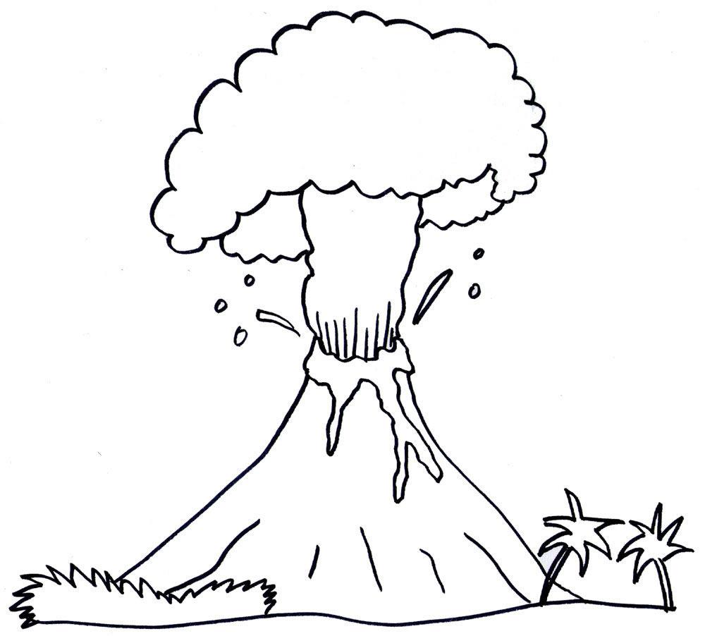 Coloriage volcan en ruption imprimer - Dessin en relief a imprimer ...