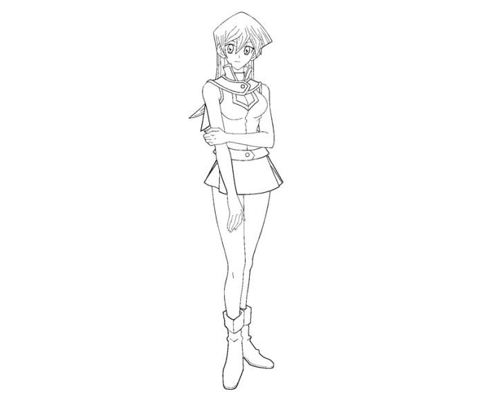 Coloriage Yu-Gi-Oh Alexis Rhodes