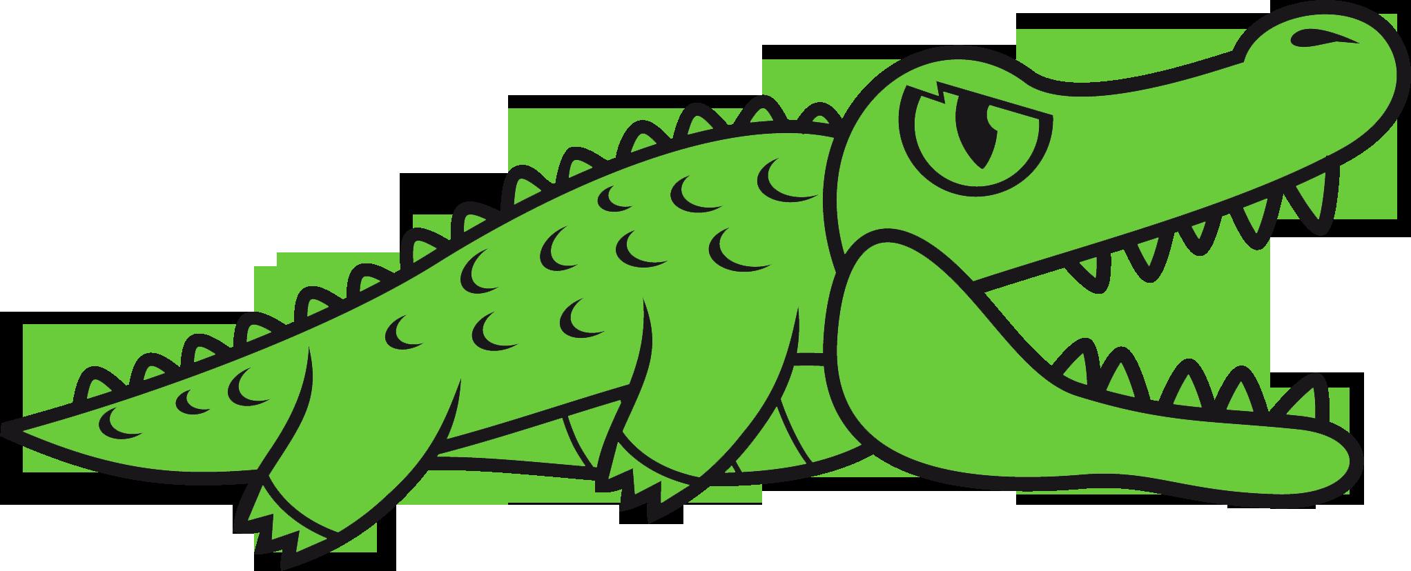 Cute alligator outline