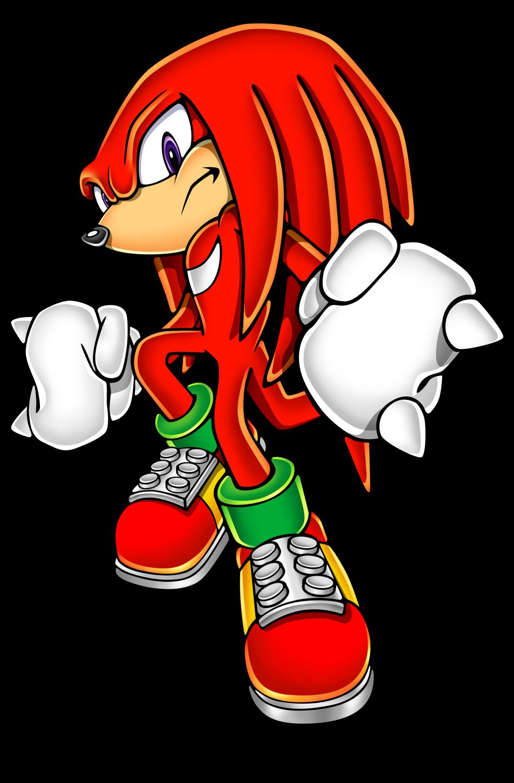 Coloriage Knuckles Sonic à imprimer