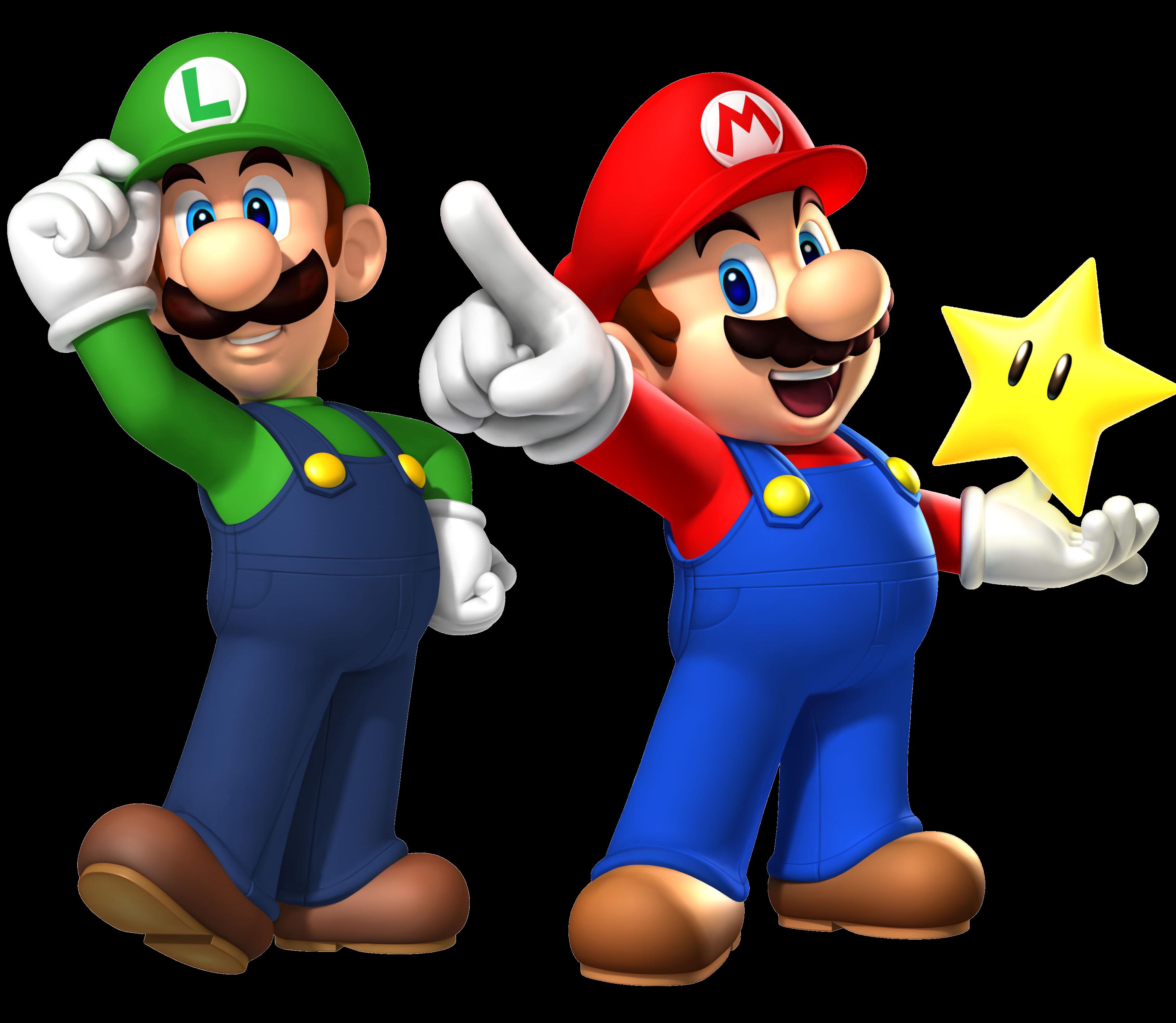 Coloriage Mario Luigi A Imprimer