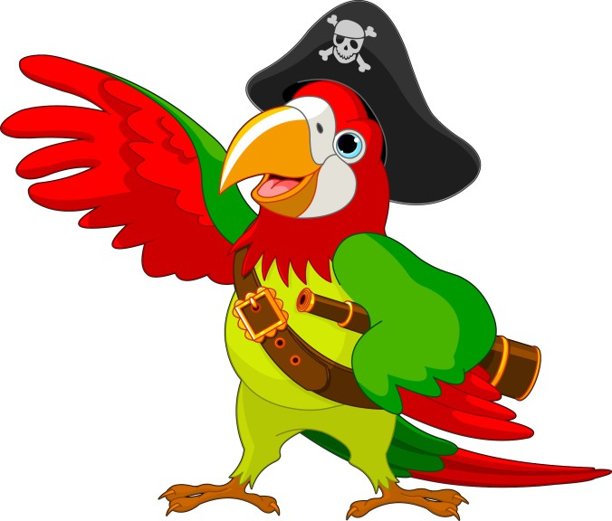 Coloriage perroquet pirate imprimer - Dessin de perroquet en couleur ...