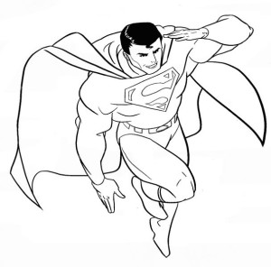 Superman coloriage