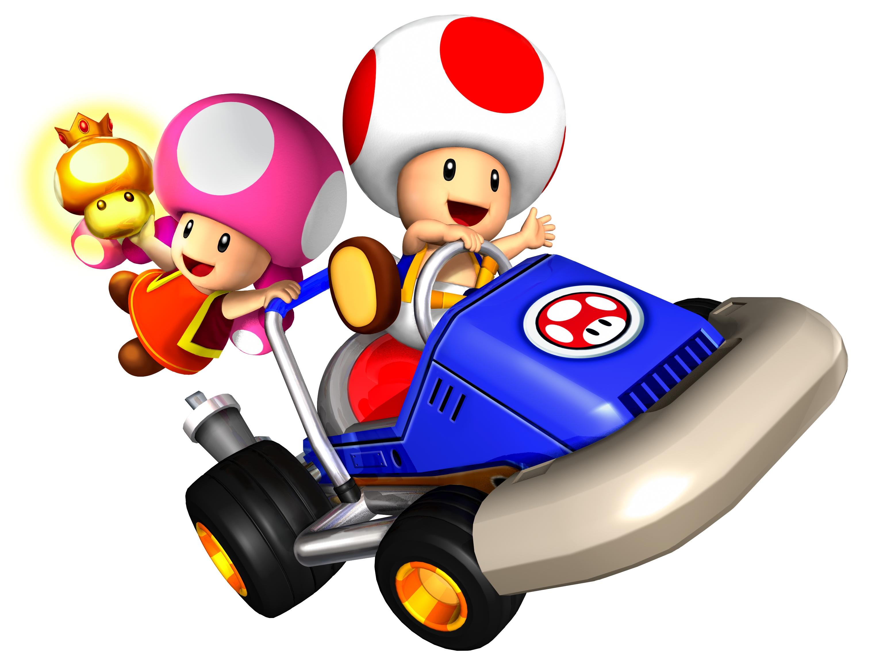 Coloriage Toad Mario Kart A Imprimer