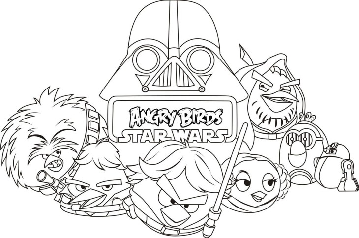 Angry Birds Star Wars coloriage
