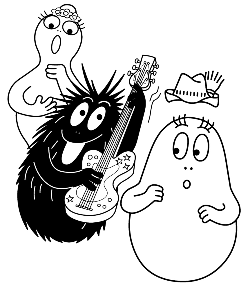 Barbapapa coloriage