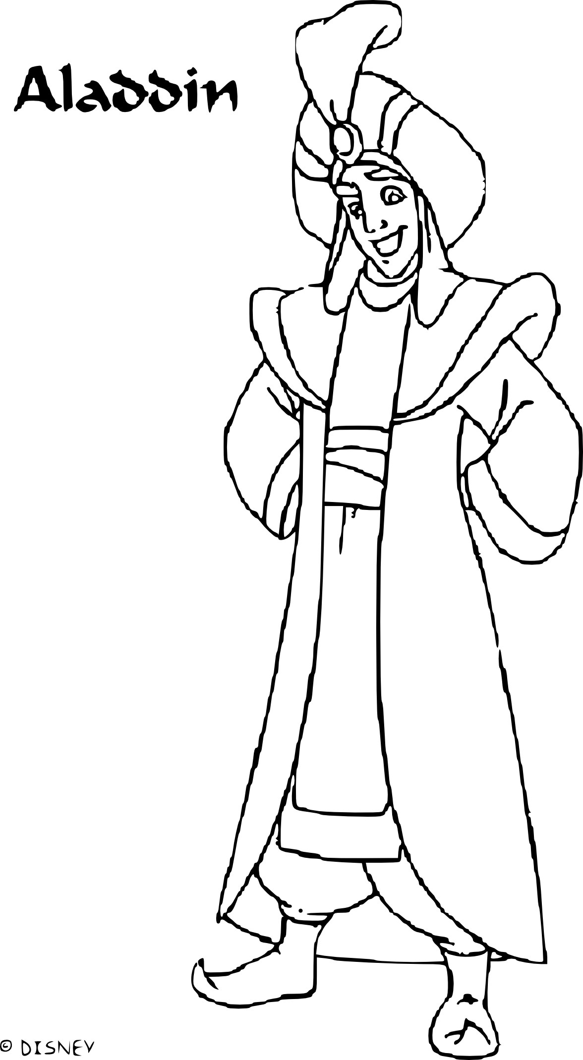 Coloriage Aladdin le prince