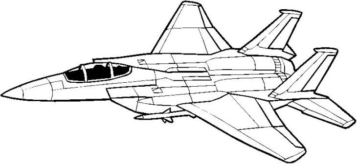 Coloriage avion de chasse imprimer - Avion en dessin ...
