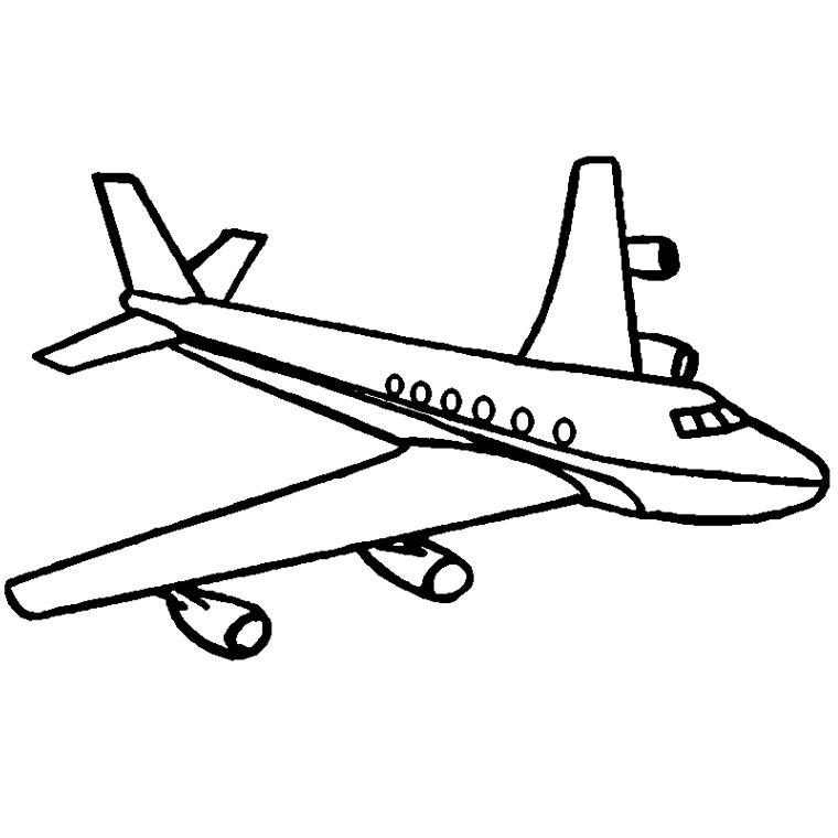 Coloriage avion voyage