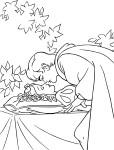 Coloriage Blanche Neige le baiser