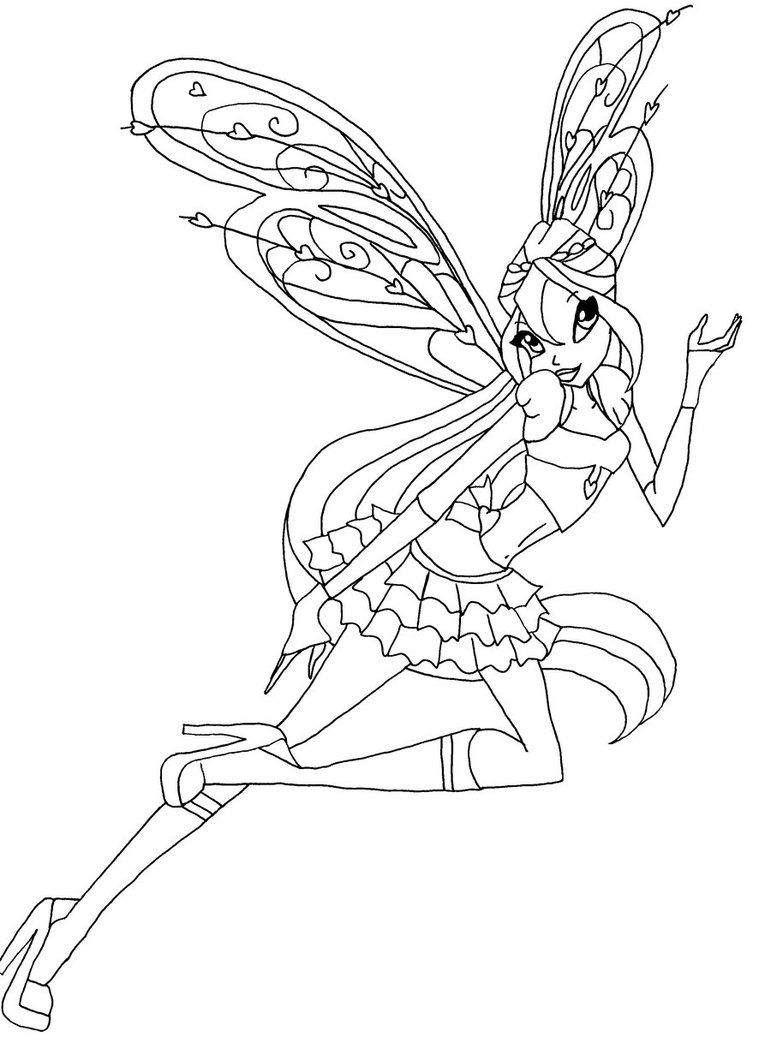 Coloriage bloom believix winx imprimer - Coloriage winx bloom ...