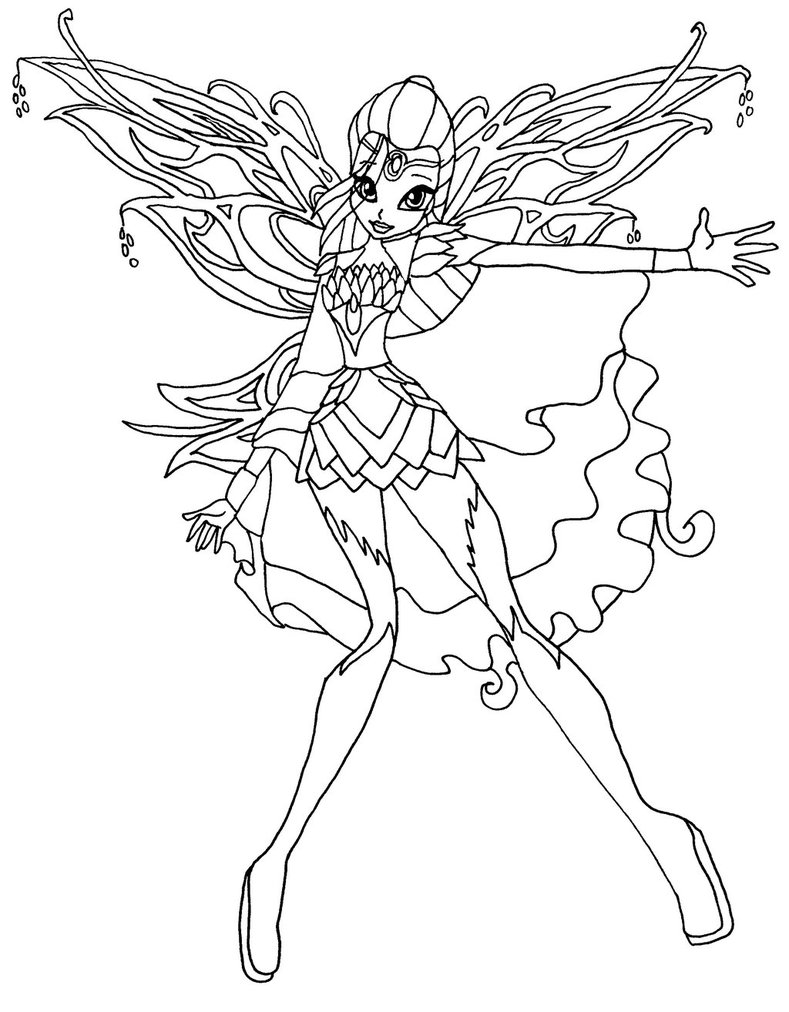 Coloriage bloom bloomix winx imprimer - Coloriage winx bloom ...