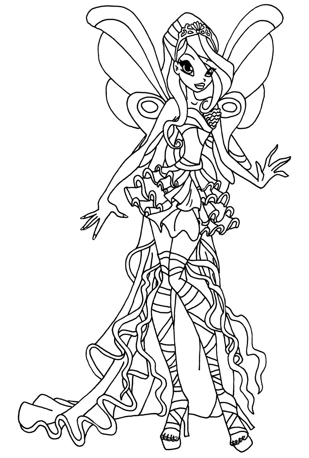 Coloriage bloom harmonix winx imprimer for Winx club bloom coloring pages