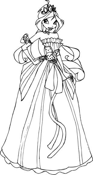 Coloriage Bloom princesse
