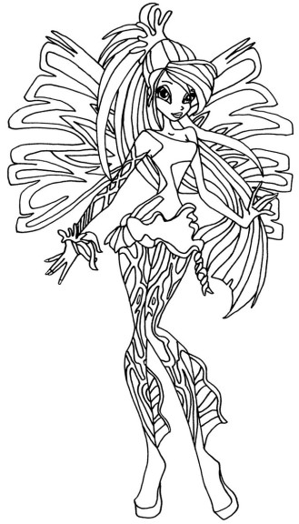 Coloriage Bloom Sirenix