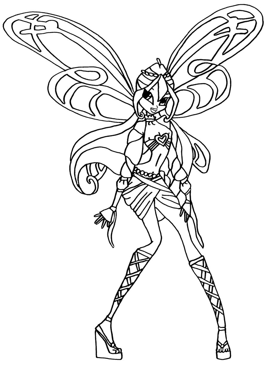 Coloriage bloom sophix winx imprimer - Coloriage winx bloom ...