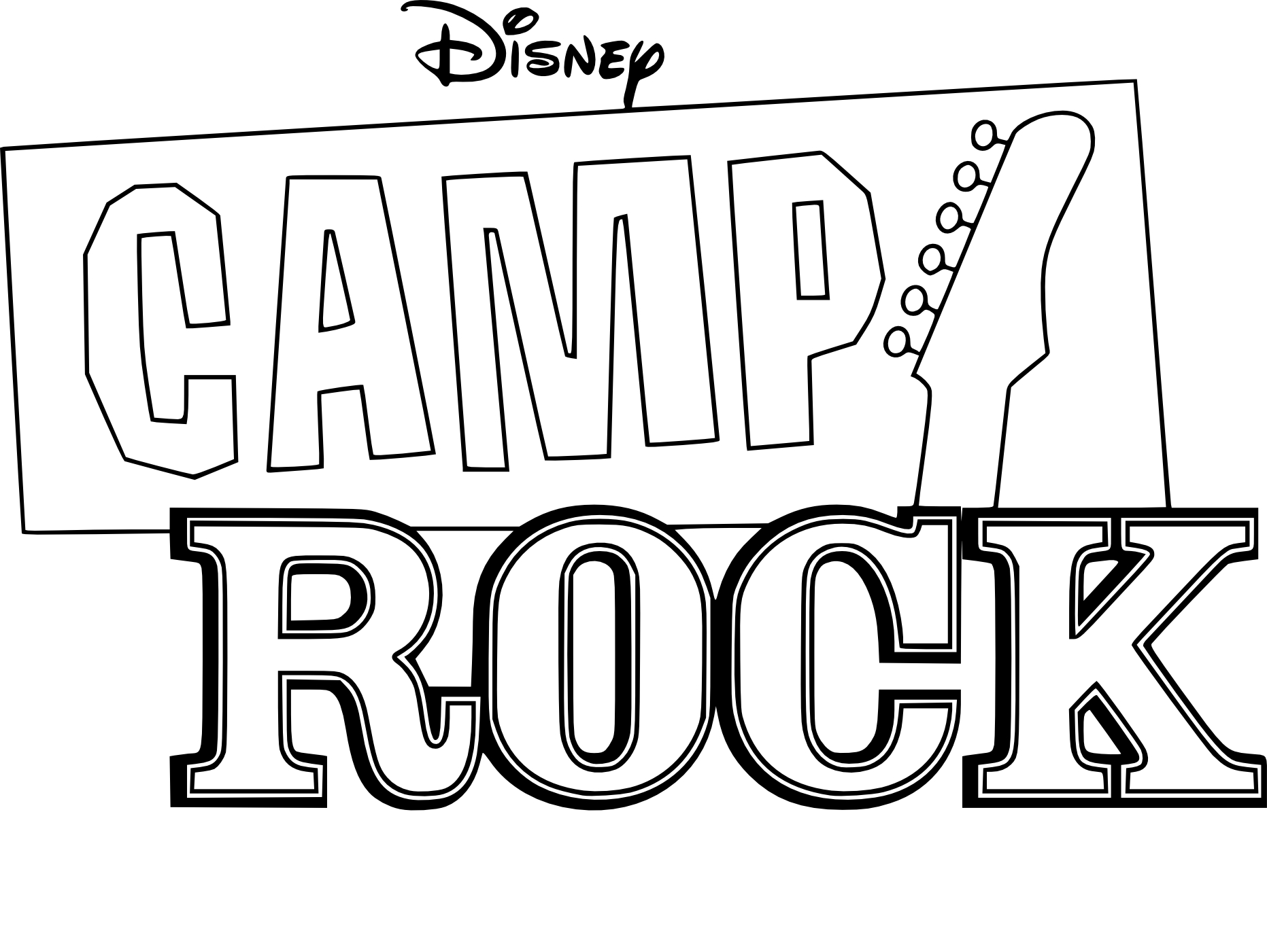 Coloriage Camp Rock à Imprimer