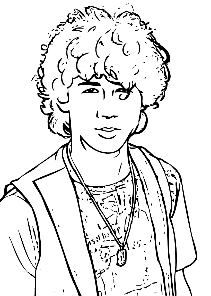 Coloriage kevin jones camp rock imprimer - Coloriage manga rock ...