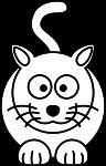 Coloriage chat mignon