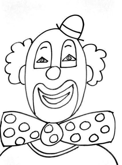 Coloriage clown cirque