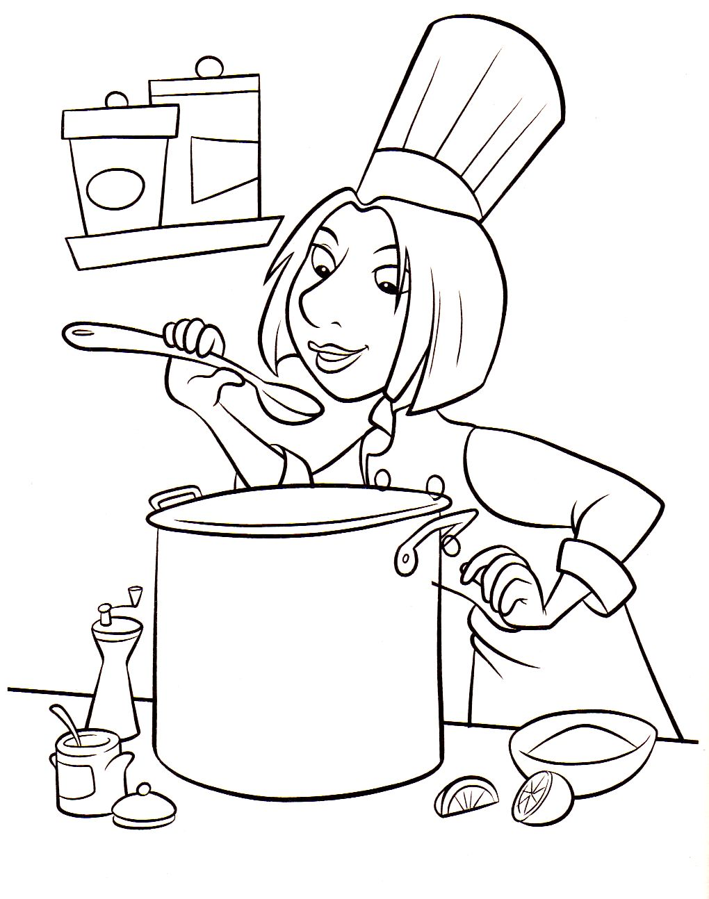 Coloriage Colette Ratatouille