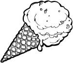 Coloriage cornet à glace