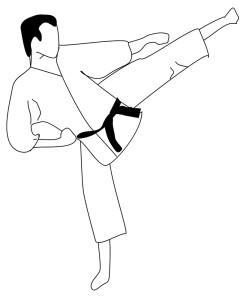 Coloriage de Karate