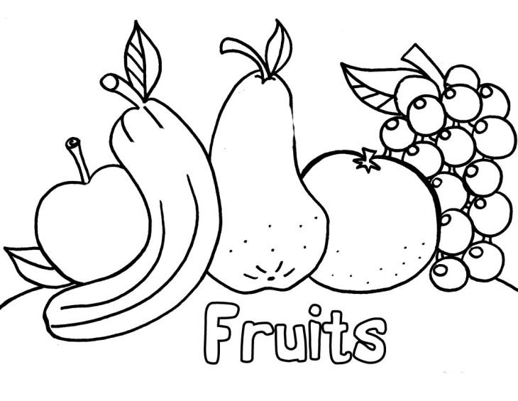 Coloriage des fruits