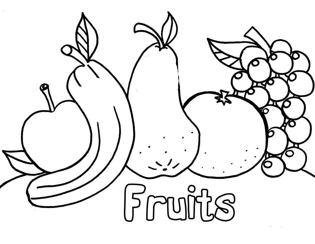 Coloriage des fruits