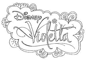 Coloriage Disney Violetta