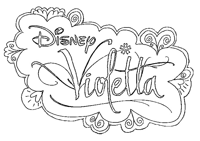 Coloriage Disney Violetta