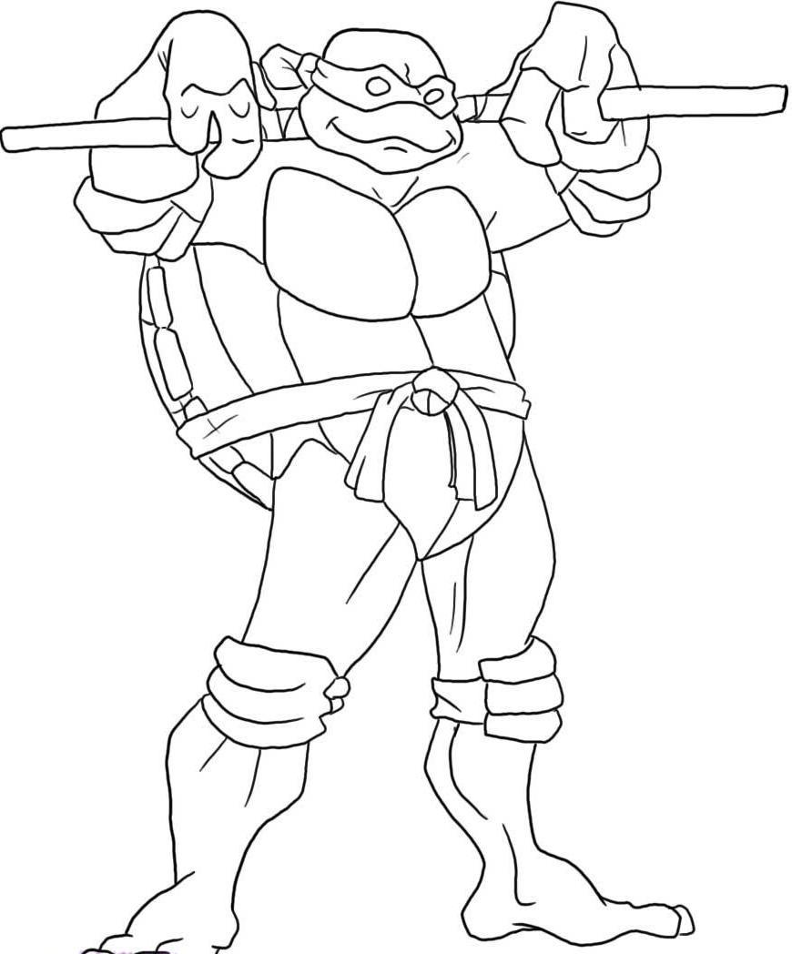 Coloriage Donatello Tortue