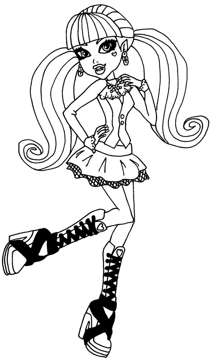 Coloriage Monster High Draculaura A Imprimer