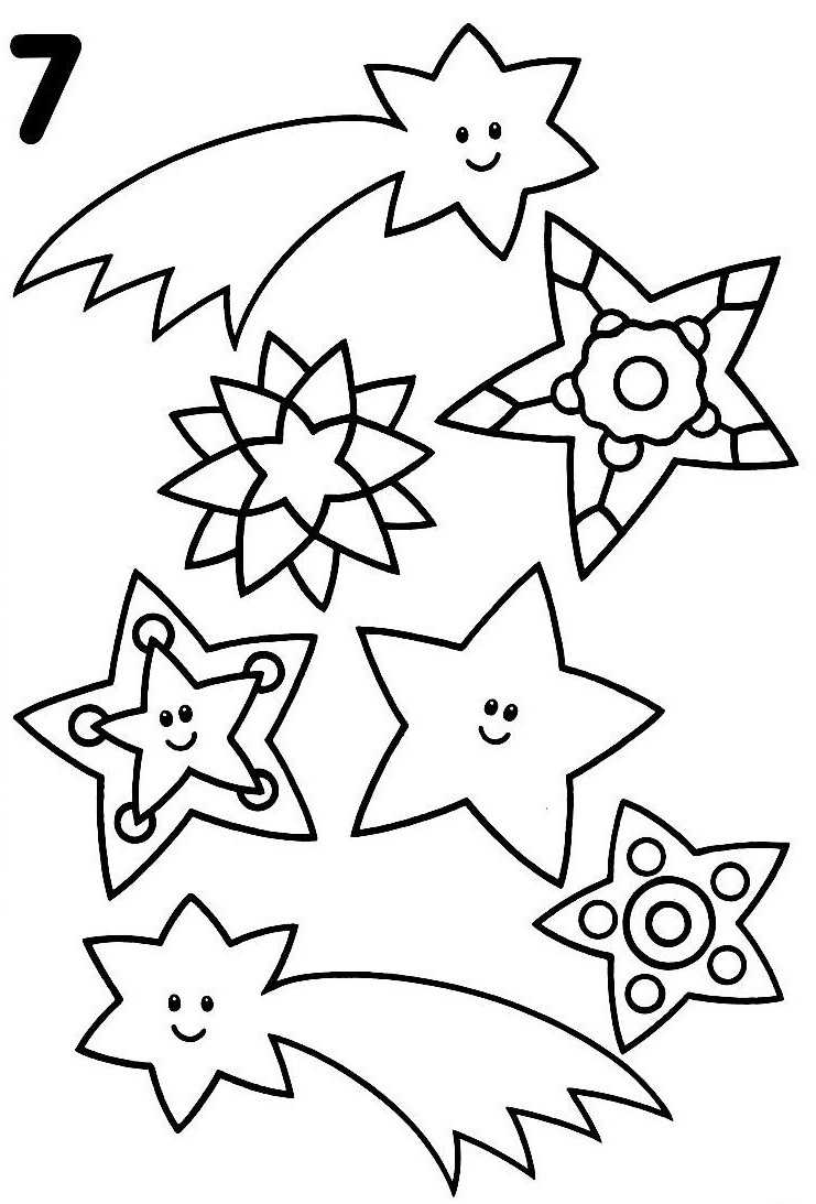 Coloriage étoile Filante à Imprimer