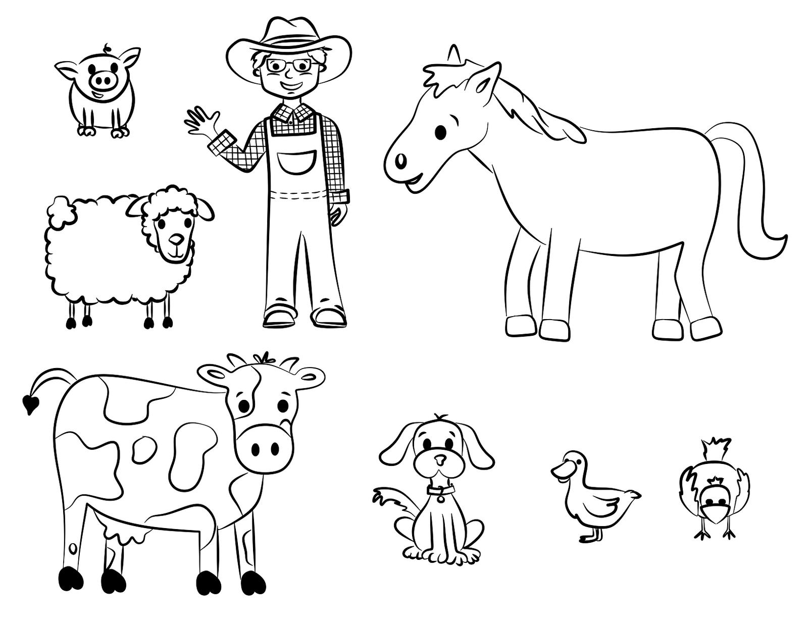 Coloriage fermier