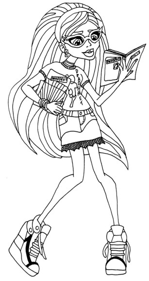 Coloriage Ghoulia Yelps