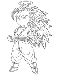 Coloriage Gotenks ss3