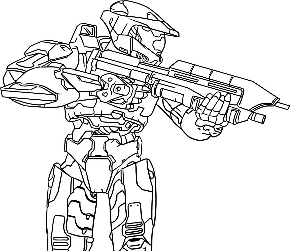 Coloriage Halo Jeux Video A Imprimer
