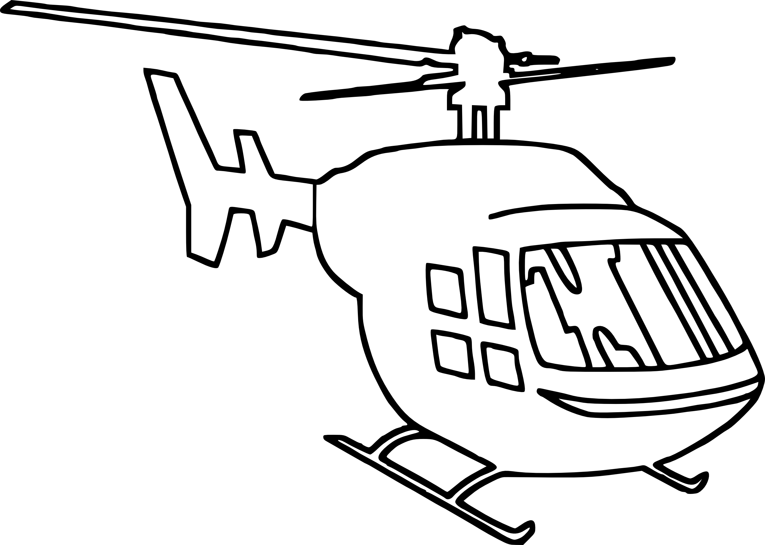 Coloriage Helicoptere A Imprimer
