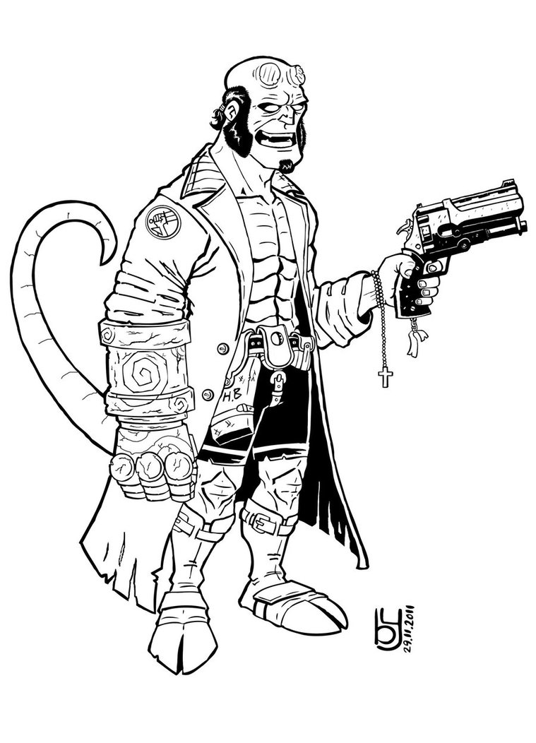 Coloriage Hellboy