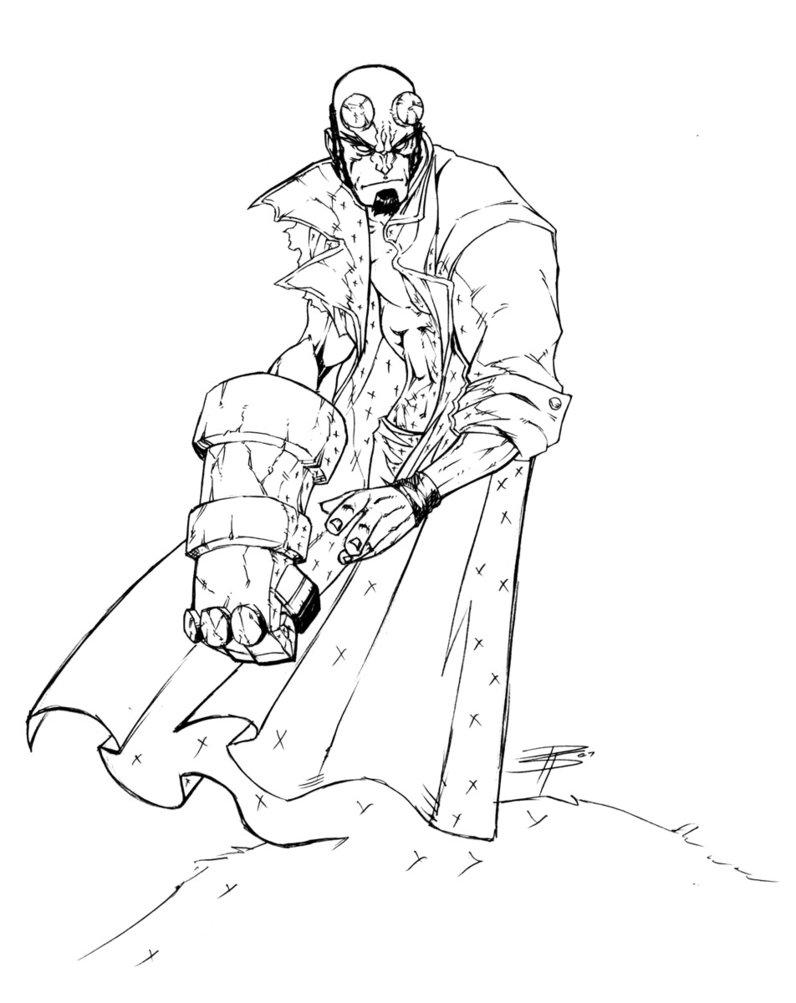 Coloriage Hellboy 2