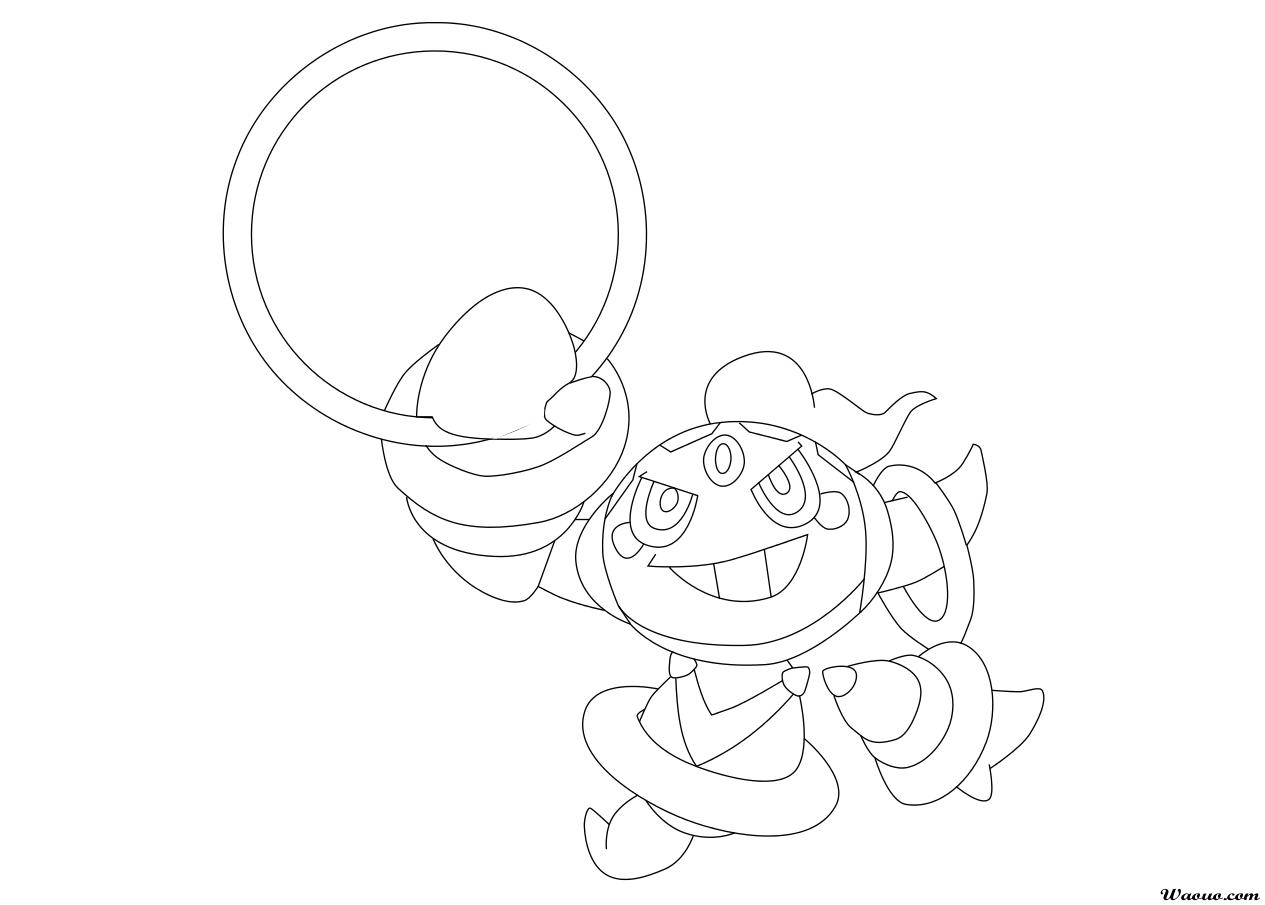 Coloriage Pokemon Legendaire Et Rare Hoopa A Imprimer