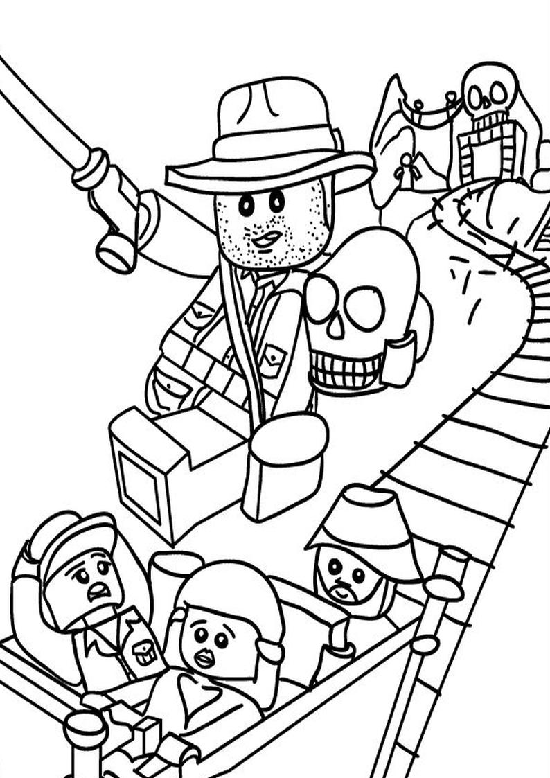 Coloriage Indiana Jones lego à imprimer